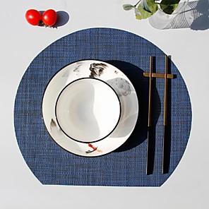 ieftine Șervețele & Inele de Șervețele-covor pvc în formă de evantai izolator antiderapant bucătărie decor acasă decor cu masă în dungi pentru rotund zilnic 35 * 31 cm 4 buc
