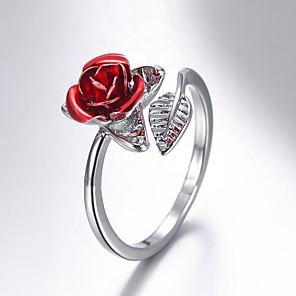 ieftine Inele-Pentru femei Inel deschis degetul mare 1 buc Roz auriu Auriu Argintiu Articole de ceramică femei Romantic Modă Cadou Zilnic Bijuterii Sculptură Floare
