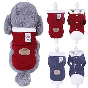 ieftine Imbracaminte & Accesorii Căței-Câini Haine Pulovere Mată Casual / sportiv Modă Casul / Zilnic Iarnă Îmbrăcăminte Câini Respirabil Rosu Albastru Costume Lână Bumbac XS S M L XL XXL