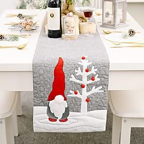 ieftine Șervețele & Inele de Șervețele-alergător de masă nețesut Crăciun contemporan sărbătoare acoperire de masă decorațiuni de masă pentru Crăciun dreptunghiular 177 * 33 cm gri 1 buc
