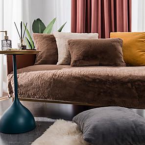 ราคาถูก -faux fur cushion cover slipcover ผ้าคลุมโซฟาโซฟาผ้าห่มโยนผ้าห่มสำหรับโซฟาโซฟาและเตียง - super soft fuzzy fleece ผ้าห่มสำหรับกลางแจ้ง, ในร่ม, ตั้งแคมป์, กันลื่น