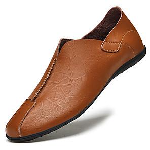 זול -בגדי ריקוד גברים נעליים ללא שרוכים עסקים קלסי בריטי יומי משרד קריירה עור נאפה נושם ללא החלקה ללבוש הוכחה שחור חום אביב קיץ