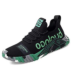 זול -בגדי ריקוד גברים נעלי ספורט ספורטיבי יום יומי יומי משרד קריירה רשת נושם ללא החלקה ללבוש הוכחה שחור אפור שחור / ירוק אביב קיץ