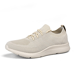 זול -יוניסקס נעלי אתלטיקה מראה ספורטיבי יום יומי יומי ריצה אריגה מעופפת נושם ללא החלקה ללבוש הוכחה לבן שחור בז' קיץ