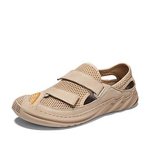 זול -בגדי ריקוד גברים סנדלים 2021 סגנונות חוף נעליים רומיות יומי בָּחוּץ רשת נושם עבודת יד ללא החלקה שחור בז' אביב קיץ