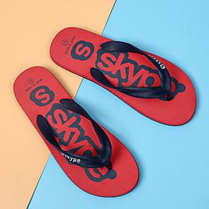 ราคาถูก -สำหรับผู้ชาย รองเท้าแตะและรองเท้าแตะ รองเท้าแตะ สปอร์ต คลาสสิก อังกฤษ ทุกวัน กลางแจ้ง ซินธิติกส์ ระบายอากาศ ไม่ลื่นไถล สวมหลักฐาน รองเท้าบู้ทหุ้มข้อ สีดำ แดง ฟ้า ฤดูใบไม้ผลิ ฤดูร้อน