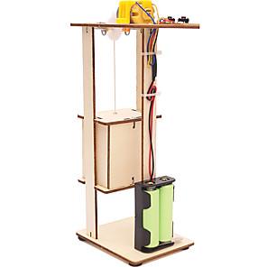저렴한 -DIY 조립 전기 엘리베이터 장난감 어린이 과학 실험 재료 키트 장난감 선물