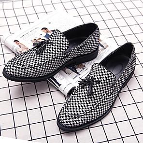 ราคาถูก -ช่างทำผมรองเท้าหนังผู้ชาย houndstooth พู่ชุดเท้าสันทนาการเกาหลีรุ่นของอังกฤษเพิ่มขึ้น 48 ขนาดใหญ่การค้าต่างประเทศรองเท้าถั่ว