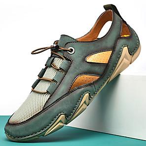 זול -2021 קיץ רשת חדשה של גברים נעליים מזדמנים אופנה נעליים אפונה תמנון חיצוני לנשימה גודל גדול נעליים במעלה הזרם