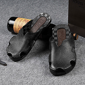 billiga -sommar vattentät halkfri baotou utomhus imitationsläder plast baoyue tofflor män sandaler grossist