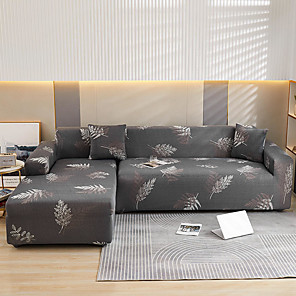 cheap -Stretch Sofa Cover Slipcover Elastic Sectional Couch Armchair Loveseat 4 Or 3 Seater L Shape Soft Durable