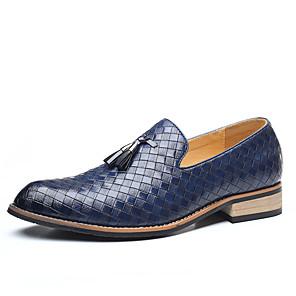 رخيصةأون -رجالي أوكسفورد مناسب للبس اليومي المكتب & الوظيفة المشي PU مضاد للماء ارتداء إثبات أسود رمادي بني داكن أزرق الخريف الربيع