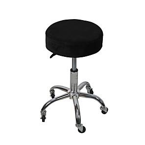 זול -כיסוי כיסאות בר עגולים כיסוי כיסא נמתח כיסוי כיסא אלסטי רך וניתן לכביסה