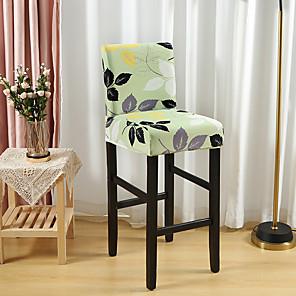 저렴한 -플로랄 프린트 슈퍼 소프트 의자 커버 스트레치 이동식 빨 식당 의자 보호 커버 슬립 커버 홈 장식 식당 시트 커버 1 조각