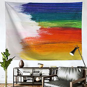 저렴한 -무지개 벽 태피스트리 아트 장식 담요 커튼 매달려 홈 침실 거실 장식 폴리 에스테르