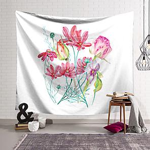 저렴한 -현대 꽃 벽 태피스트리 아트 장식 담요 커튼 매달려 홈 침실 거실 장식 폴리 에스테르