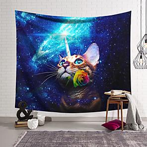 저렴한 -벽 태피스트리 아트 장식 담요 커튼 매달려 홈 침실 거실 장식 폴리 에스테르 고양이