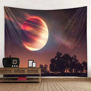 저렴한 -판타지 별이 빛나는 하늘 벽 태피스트리 벽걸이 아트 데코 담요 커튼 집에 매달려 침실 거실 장식 공상 과학 시리즈 떨어지는 행성 지구