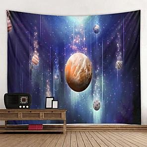 저렴한 -벽 태피스트리 벽 매달려 아트 데코 담요 커튼 집에 매달려 침실 거실 장식 떨어지는 행성