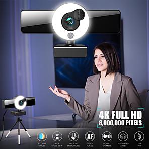 저렴한 -웹캠 8809 미니 웹 카메라 (마이크 포함 컴퓨터 노트북 용) 자동 초점 링 라이트 비디오 웹캠 1080p 2k 라이브 방송 웹 캠 4k 버전