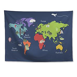 저렴한 -벽 태피스트리 아트 장식 담요 커튼 매달려 홈 침실 거실 장식 폴리 에스테르 세계지도