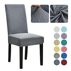 זול -כיסא כיסא אוכל למתוח כיסא מושב כיסוי רך אקארד רך בצבע אחיד מגן ריהוט רחיץ עמיד למסיבת חדר אוכל