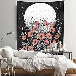 voordelige -bloemen wandtapijten art decor deken gordijn opknoping thuis slaapkamer woonkamer decoratie polyester