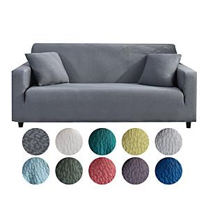 voordelige -stretch sofa hoes hoes jacquard elastische sectionele bank fauteuil loveseat 4 of 4 of 3 zits l-vorm, effen, stevig, zacht duurzaam wasbaar