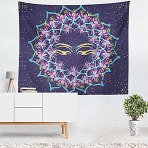 זול -מנדלה שטיח קיר בוהמי אמנות תפאורה שמיכת וילון תלוי חדר שינה ביתי סלון קישוט בוהו היפי