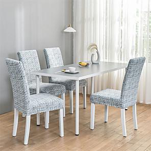 levne -Severský jednoduchý styl pro domácnost s elastickým kuželovým sedákem s integrovaným jídelním stolem Sada čtyř ročních období
