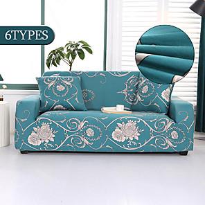 זול -כורסת ספה נמתחת להחליק כיסא ספת חתך אלסטי כורסת 4 או 3 מושבים בצורת l פרח פרחוני רך לכביסה