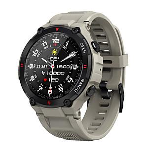 halpa -MAX6 Älykello Bluetooth Ajastin Sekunttikello Askelmittari Vedenkestävä Kosketusnäyttö Sykemittari IP 67 45 mm kellokotelo varten Android iOS / Verenpaineen mittaus / Urheilu / Pitkä valmiustila