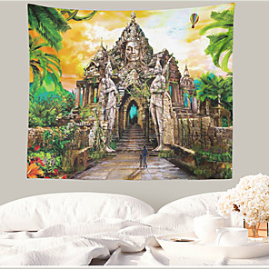 저렴한 -풍경 벽 태피스트리 아트 장식 담요 커튼 매달려 홈 침실 거실 장식