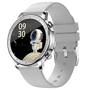 halpa -V23 Älykello Bluetooth Ajastin Sekunttikello Askelmittari Vedenkestävä Kosketusnäyttö Sykemittari IP 67 43 mm: n kellokotelo varten Android iOS / Verenpaineen mittaus / Urheilu / Pitkä valmiustila