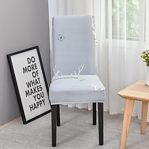 זול -הדפסת כיסא כיסא רך סופר למתוח נשלף כיסא חדר אוכל רחיץ כיסוי כיסוי מושב חדר אוכל עיצוב בית כיסוי 1 piece