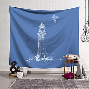 저렴한 -바다 풍경 벽 태피스트리 아트 장식 담요 커튼 매달려 홈 침실 거실 장식 폴리 에스테르
