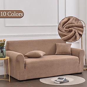 זול -כריכת ספה למתוח כיסוי ספה כרית ספת חתך אלסטית אלבום מושב 4 או 4 או 3 מושבים צורת l אפור שחור רגיל מוצק רך עמיד רחיץ