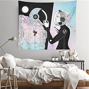 voordelige -astronaut wandtapijten art decor deken gordijn opknoping thuis slaapkamer woonkamer decoratie polyester