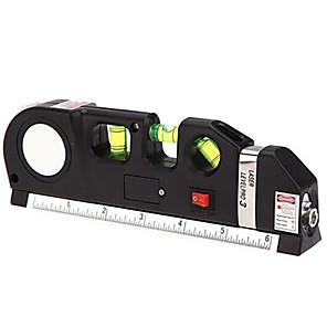 economico -Lo strumento di misurazione laser 4 in 1 include misurazioni lineari imperiali e metriche nastro laser a infrarossi a livello del nastro laser a linee incrociate