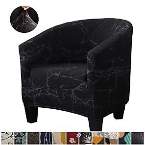 cheap -Stretch Club Chair Cover Slipcover Armchair Barrel Tub Chair Black Soft Durable Washable