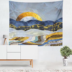 voordelige -olieverfschilderij stijl wandtapijten art decor deken gordijn opknoping thuis slaapkamer woonkamer decoratie polyester