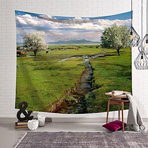 voordelige -landschap wandtapijten art decor deken gordijn opknoping thuis slaapkamer woonkamer decoratie polyester