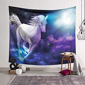 זול -חד קרן שטיח קיר תפאורה שמיכת וילון תלוי וילון סלון חדר שינה ביתי פוליאסטר