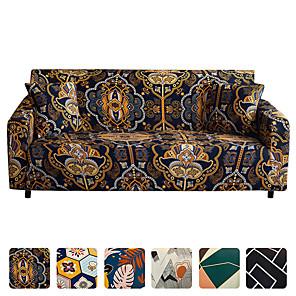 levne -roztažitelný potah na pohovku slipcover elastické křeslo s rozkládacím gaučem loveseat 4 nebo 3 sedadlo l tvar l měkký odolný omyvatelný