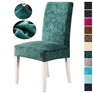 cheap -Nordic Simple Style Household Elastic piece Chair Set Integrated Dining Table Chair Set Four Seasons Color Green Color Blue
