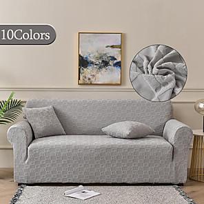 voordelige -hoge kwaliteit luxe jacquard stretch sofa cover voor woonkamer amerikaanse stijl reliëf patroon couch cover hoes couch protector fit voor 1-4 kussen bank en l vorm sofagemakkelijk te installeren