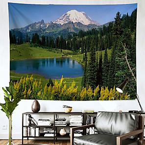 저렴한 -풍경 벽 태피스트리 아트 장식 담요 커튼 매달려 홈 침실 거실 장식 폴리 에스테르 산