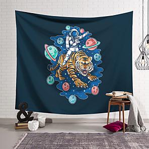 voordelige -Astronaut wandtapijten art decor deken gordijn opknoping thuis slaapkamer woonkamer decoratie polyester planeet tijger