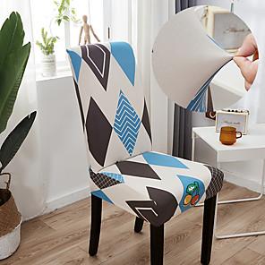 preiswerte -Impression Stuhlbezug für Esszimmer Mandala Print Stühle deckt hohe Rückenlehne für Wohnzimmer Party Hochzeit Weihnachtsdekoration