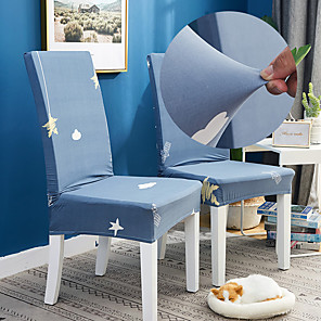 ราคาถูก -ปลอกคลุมเก้าอี้ห้องครัวแบบยืดได้สำหรับงานปาร์ตี้ท้องฟ้ากาแล็กซี่นุ่มทนทานล้างทำความสะอาดได้